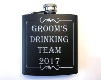 Wedding Party Flask - Personalized Groomsman Hip Flasks - Groomsmen Gifts - Bridal Party Gifts - Gifts for Wedding Party - Groomsman Gift