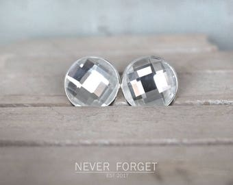 "Stud Earrings ""Diva""-14 mm or 18 mm/pair"
