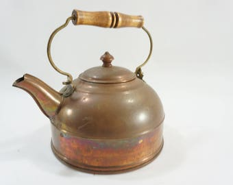 Revere Ware Copper Tea Kettle, Copper Kettle, Vintage Copper Paul Revere Signed Tea Pot, Rome NY, USA Made, Stove Kettle, Free Ship