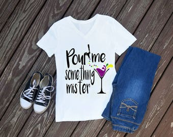 Pour Me Something Mister Women's T-Shirt, Mardi Gras