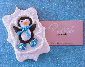 Christmas Cookies Penguin Snow Angels~1 Dozen~Frost Yourself Cookies