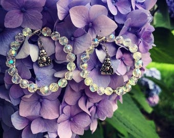 Happy buddha earrings