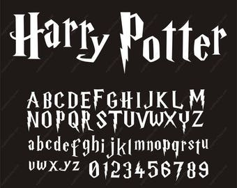 Harry Potter Svg, Harry Potter Alphabet, Harry Potter Svg Font, Files for Silhouette Cameo or Cricut