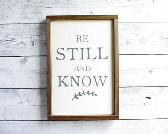 Be Still and Know | Bible Verse Wall Art