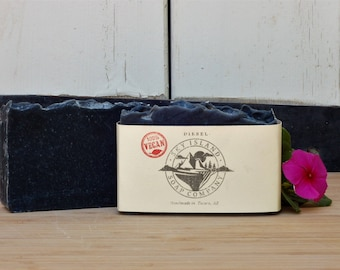 Diesel Vegan Bar Soap   /Peppermint, Eucalyptus, Cedarwood, Charcoal,  Black, Gender Neutral, Cruelty Free, Ethically Sourced, Sustainable
