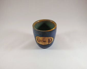 Shot glass, Dad shot glass, pottery, ceramic, gift, gift for him,gift for dad, Father's Day gift, pottery shot glass