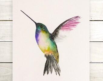 Original Hummingbird painting-original painting-colorful art-animal painting-wall art-watercolor painting-bird lovers-zen watercolor-bird