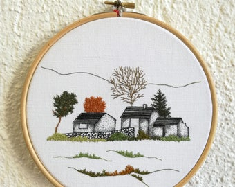 Countryside - embroidery - Embroidery