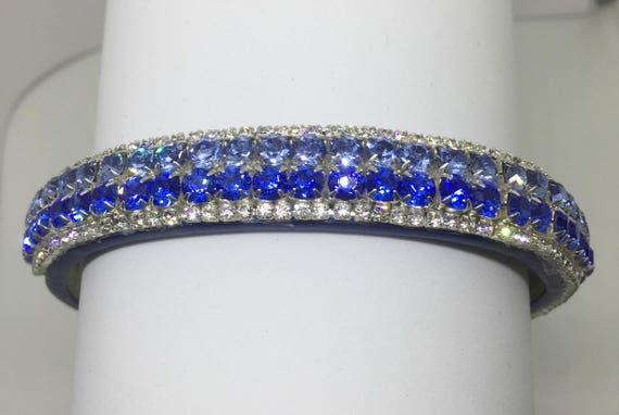Cutie Pie Pet Collars TM ~I Love U.S. Air Force~ Blue Crystal Diamante Rhinestone Pet Dog Cat Collar USA