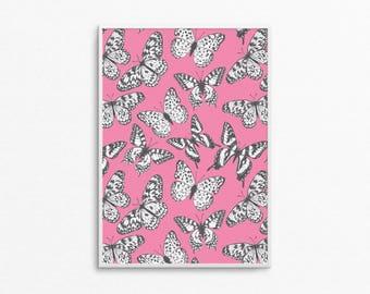 A4 Butterflies Print