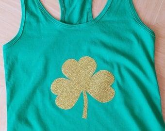 St. Patrick's Day Shirt, St. Paddy's Day shirt, St Patrick's Day Glitter shirt, St. Patrick's Day tank top, St. Paddy's Day tank, green tank