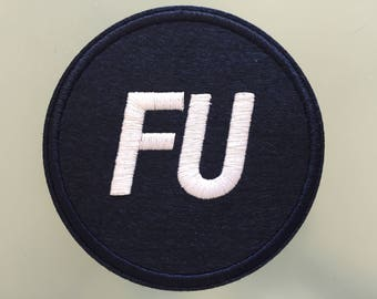 "FU FRANK UNDERWOOD President - Embroideed Iron On Patch - 3"" - House of Cards"