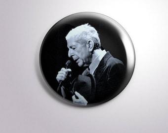 LEONARD COHEN SINGER - pins / buttons / magnets