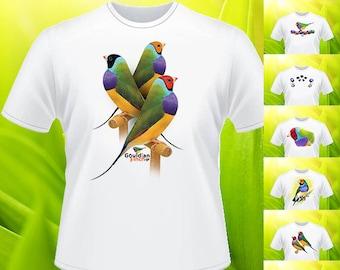 Gouldian finch Wild type T-shirt