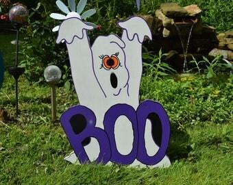 halloween boo ghost ghost lawn stake halloween yard art halloween outdoor decor - Halloween Garden Stakes
