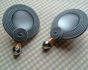 Сутажные  серьги ( Soutache Earrings )