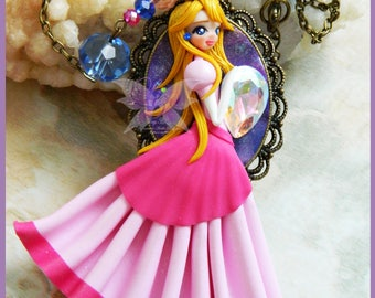 Princees Peach Necklace
