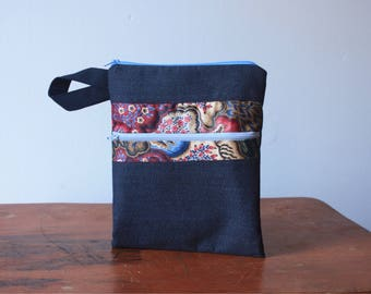 Large Zipper Pouch/Cosmetic Bag/Notebook Pouch
