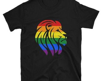 Rainbow Pride Lion Unisex T-Shirt lgbt lgbtqipa lgbtq mogai pride flag