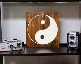 Yin Yang Wood Sign