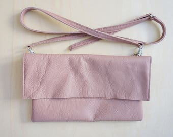 Shoulder bag; Cross body bag; rose; dusky pink