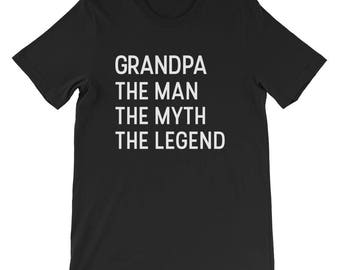 Grandpa the man the myth the legend fathers day Shirt gift for grandpa birthday tee funny shirt awesome grandfather tshirt best ever