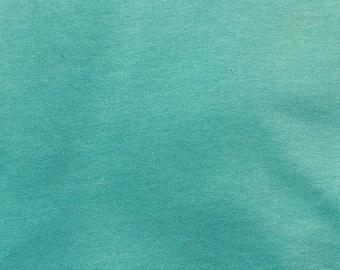 Mega summer sale NEW!  Organic sweatshirt fabric,  turquoise, 1/4 metre units EXTRA WIDE