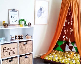 Mustard Canopy, Reading Nook, Play Corner, Cot Canopy, Teepee