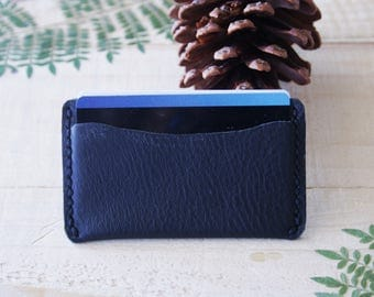 Classic Minimalist Card Wallet, Card case, Card holder - Black