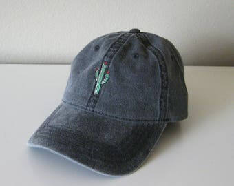 Cactus Embroidered Dad Baseball Cap