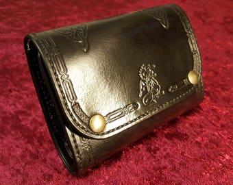 Wallet black leather
