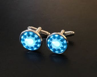 Iron Man Arc Reactor Marvel Avengers Cufflinks Cuff Links