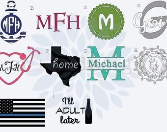 Custom Decal, Personalized Decal, Name Decal, Monogram Decal