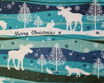 Holiday Merry Christmas Fabric
