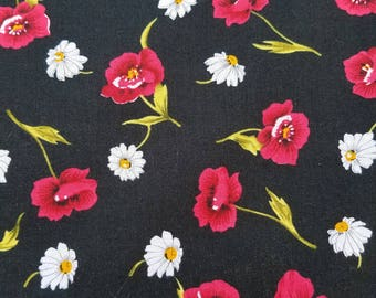 Poppies and Daisies Fabric