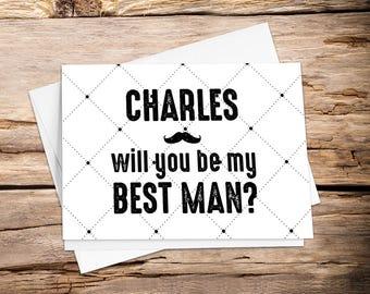 Printable Will you be my with Setup, groomsman proposal, groomsman card, be my groomsman, best man card, groomsman, best man, wedding card