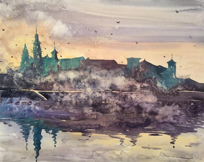 Misty Wawel in watercolor
