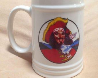 Captain Morgan Pirate Ceramic Collectible Beer/Rum Stein Mug