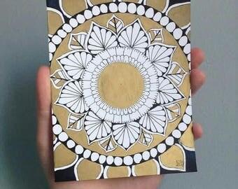 Mandala Card Gold