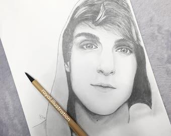 Logan Paul Pencil Drawing