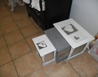 three nesting tables revamped
