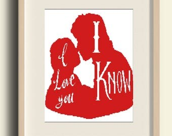 BUY 2 GET 1 FREE Star Wars Princess Leia and Han Solo  / Embroidery Needlework Pdf Instant Download/#C17