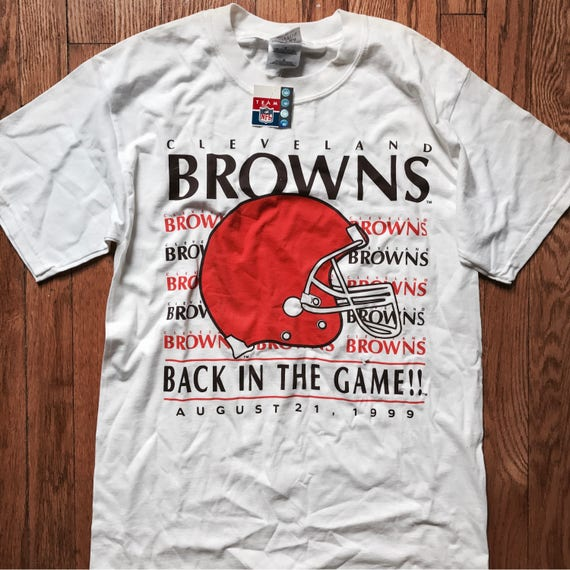 NWT Vintage DEADSTOCK Cleveland Browns Inaugural Gameday t-shirt (white) | 1999 Draft
