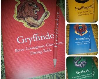Gryffindor, Slytherin, Ravenclaw, Hufflepuff notebook