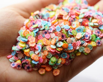 1000 pieces of flower fimo slices for slime clear fimo slices nail art supplies