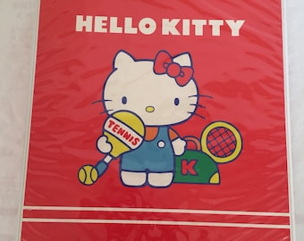 Vintage 1981 Sanrio Hello Kitty Binder with Dividers.