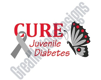 Cure Juvenile Diabetes SVG - HTV - Vinyl Cutting Graphic Art