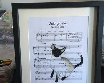 Personalised sheet music for a lost pet.