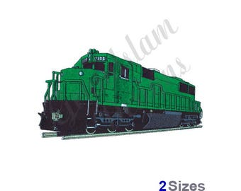 Train Engine - Machine Embroidery Design