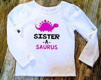 Sister Dinosaur Shirt